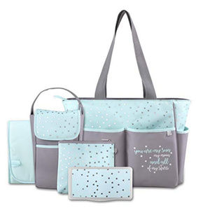 Handbags - Diaper Bag Tote 5 Piece Set